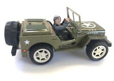 Willys American WWII  Style Jeep Tin Toy Wind-Up