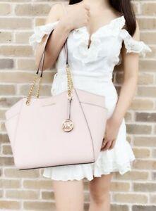 Michael Kors Bag / Bag Jet Set Travel LG Chain Tote Bag Saffiano Powder Blush