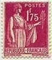 "FRANCE STAMP TIMBRE N° 289 "" TYPE PAIX 1 F 75 ROSE LILAS "" NEUF xx LUXE"