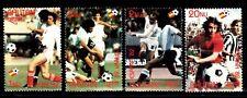 SELLOS DEPORTES FUTBOL BHUTAN 1982 588/91 ESPAÑA 82 4v.