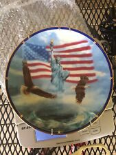 Danbury Mint Porcelain America Stands Proud Limited Edition Collector Plate