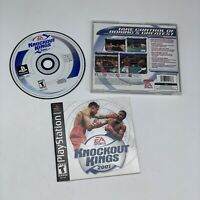 EA Games Knockout Kings 2001 for Playstation 1 - COMPLETE! Tested & Working