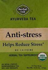 New listing Herbal Cup Ayurveda Tea Anti-Stress Herbal Tea Supplement, 16 Tea Bags