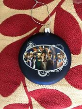 Doctor who  11 doctors  kurt s.alder  hand crafted glass christmas ornament