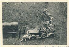 WW2 Militaria Photo Foto Militär Bergung Wagen LKW Oldtimer Cabrio