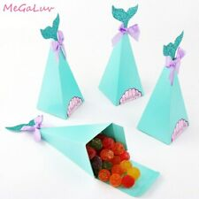 10 Pcs/set Of Mermaid Tail Wing Paper Biscuit Bag Children Gift Birthday Party
