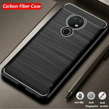 For Nokia 1.3 2.4 3.2 3.4 5.1 6.2 7.2 Shockproof Carbon Fiber Rubber Case Cover