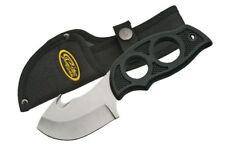 "FIXED-BLADE HUNTING KNIFE   Rite Edge 7"" Gut Hook Finger Grip Skinner w/ Sheath"