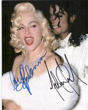 Michael Jackson & Madonna ++ Autogramm ++ Musik-Legenden ++ Pop Autograph