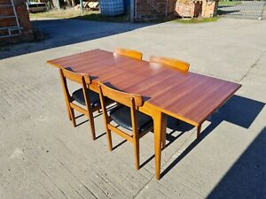 VINTAGE MID CENTURY YOUNGER FONSECA EXTENDING TABLE 4 CHAIRS