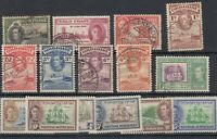 British Commonwealth KGVI Unchecked Collection Of 15 MH/VFU JK1467