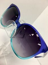 Linda Farrow Sunglasses Large Blue And Green Plastic Hombre Smoke Lens