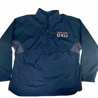 Super Bowl XLI NFL Men's Sz XL Navy Blue Half-Zip Windbreaker Colts Official