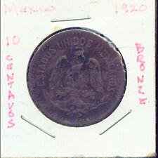 WORLD COINS MEXICO 1920 10 CENTAVOS CH VF (3G244)