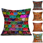 Classic Square Throw Home Decor Pillow Case Bed Sofa Waist Cushion Cover Case we