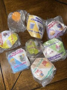 vintage mcdonalds happy meal toys lot (8) changeables transforming fast Food NIP