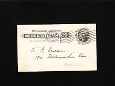 US Postal Card Early Philately Chicago Wolfseiffer Auction Sale Flag K 1898 5x