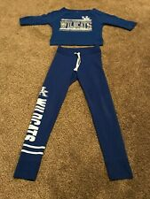 Girls Size 10 by 5th & Ocean Clothing Uk Wildcats 2 pc Outfit Shirt & Sweatpants