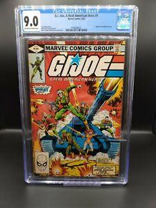 G.I. JOE A REAL AMERICAN HERO #1 - CGC 9.0 - 1982 NEW MOVIE!