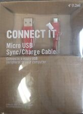 RadioShack 2604420 4 Foot Micro USB Sync/Charge Cable - Red (IL/PL1-3885-2604...