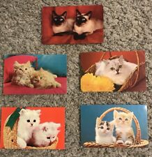 VTG 1960's Cats Post Cards Lot of 5 Unused