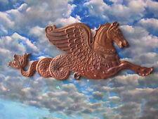 Vintage Winged Horse, Greek Revival Hippocampus Mythical Serpent, Brass Stamping