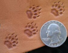 New Set of Front and Rear Grizzly Bear Tracks Custom Made Leather Stamps Tools