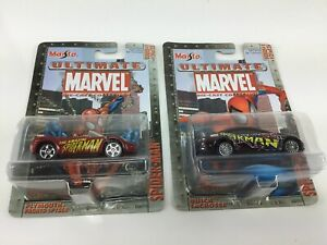 Maisto Marvel Die-Cast Spider-Man Plymouth Pronto Spyder Buick LaCrosse lot of 2