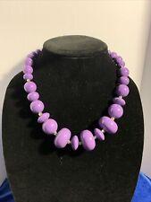 18� Graduated Necklace Pretty J384 Purple Costume Jewelry