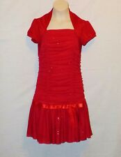 Sz 14 Byer Girl Dress Red Wedding Pagent Church Christmas Thanksgiving Flower