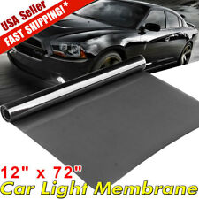 "12""x72"" Light Black Car Smoke Headlight Taillight Fog Light Tint Film Vinyl Wrap"