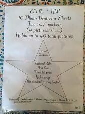 "Elite Photo Protector Sheets, 5x7"" photos, 10 pack, heavyweight"