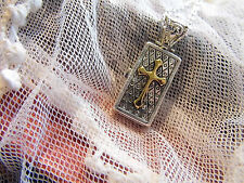 bible PRAYER WISH BOX LOCKET MEMORY MOMENTO SILVER Necklace WEDDING BAPTISM