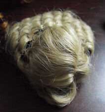 "Vintage Small Doll Blonde Perm Doll Wig 4"" Long"
