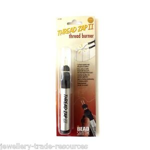 1x The Beadsmith Thread Zap II Thread Burner Tool trims or melts frayed ends