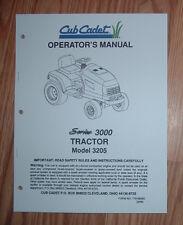 CUB CADET 3205 OWNERS OPERATORS MANUAL