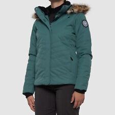 $626 Obermeyer Womens Green Tuscany II Insulated Winter Parka Jacket Coat Size 4