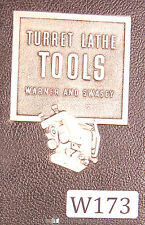 Warner Amp Swasey Tooling Catalog No 38 Turret Lathe Tooling Manual Year 1946
