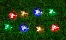 100 LED 10M MINI REINDEERS MULTI COLOUR SOLAR CHRISTMAS STRING LIGHTS