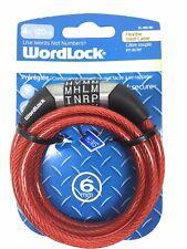 Blue Wordlock Flexible 1.5m Steel Cable Word Combination Bike Lock