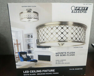 NOB Feit Electric LED Ceiling Fixture Light Mounts Flush/or Semi Flush