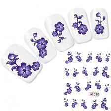 Nagel Sticker Nail Art Blumen French Flower Aufkleber Water Decal