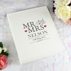 Personalised Traditional Mr & Mrs Beautiful Photo Album Wedding Day Gift Ideas