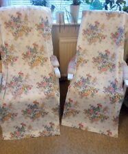 """Pair Floral Off White Retro Vintage Shabby Chic Curtains 52"""" x 72"""""""