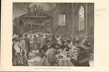 Oktoberfest Munchen Munich Bavaria Rossler FRANCE GRAVURE ANTIQUE OLD PRINT 1901