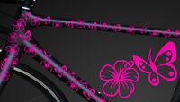 24-teiliges Fahrrad Hibiscus Aufkleber Hibiskus Blumen Schmetterlinge BikeCyry