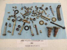 01 POLARIS SCRAMBLER 500 FRAME BOLTS KIT MISC NUT BOLT PARTS ETC WASHER SWING E