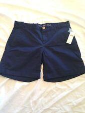 "Khakis by Gap Girlfriend 6"" Shorts Sz 2 Navy Blue"