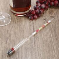 3 Scale Hydrometer Alcohol Meter for Home brew Wine Beer Cider Testing