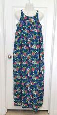 New listing Vintage 1950's The Kahala Hawaiian Wedding Floral Print Long Maxi Dress Mumu